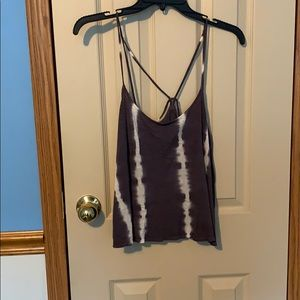 """Gray and white """"tie die"""" tank"""